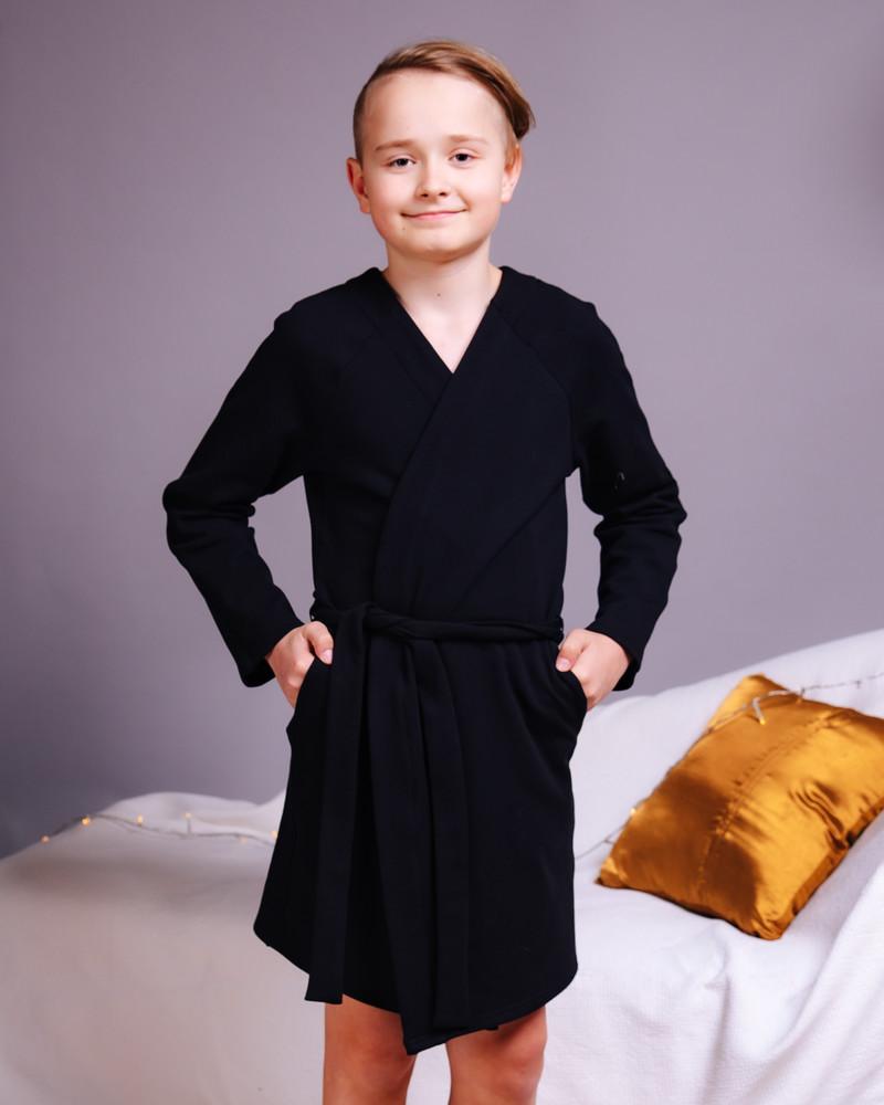 KIMONO KIDS ROBE BLACK