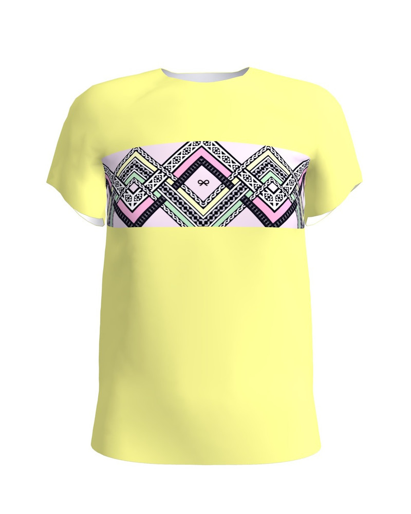 COLORFUL ETHNIC T-SHIRT YELLOW