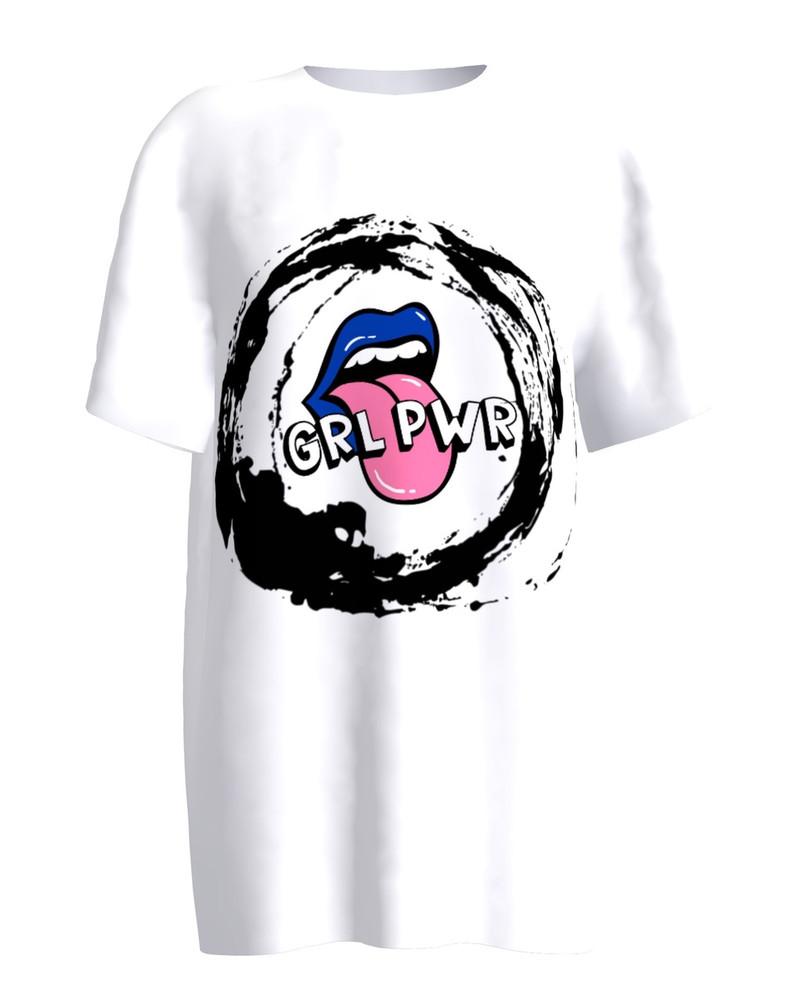 T-shirt White SASSY AF