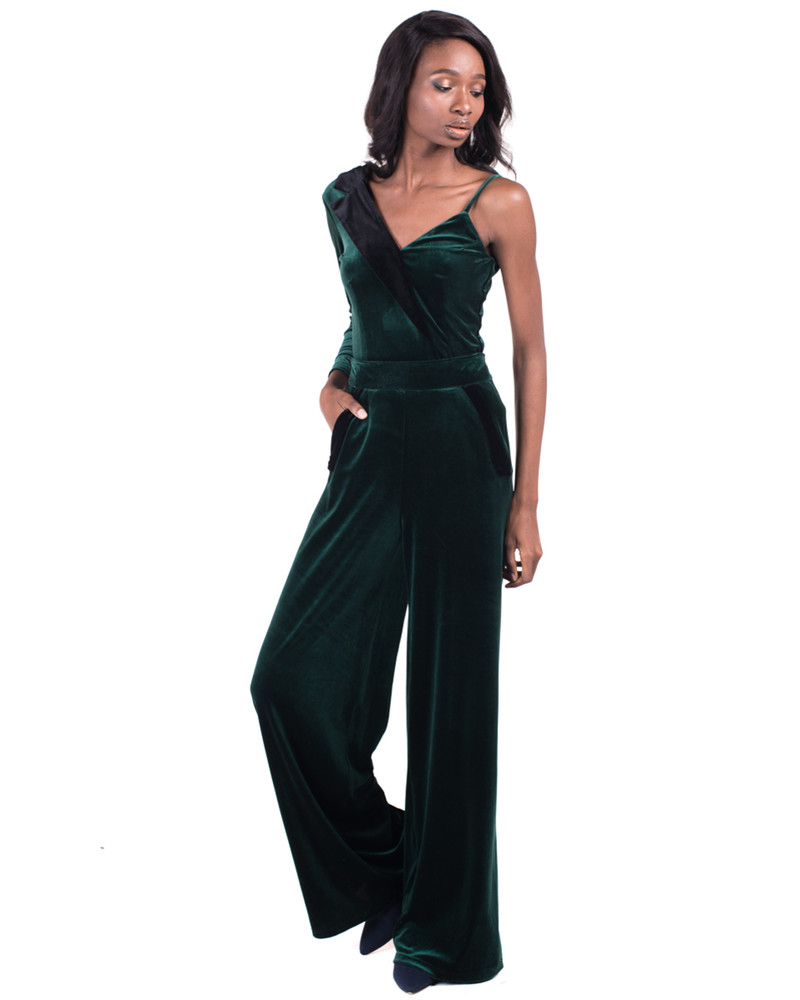GREEN VELVET FUNKY SUIT SET