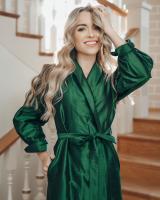 GREEN SILK MAXI DRESS