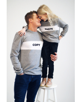 GREY COPY SWEATER FOR MEN