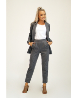 GREY STRIPE POCKET TROUSERS