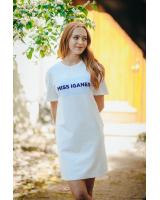MISS IGANES WHITE OVERSIZE DRESS
