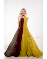 EARTHY FLOWY MAXI CHIFFON DRESS