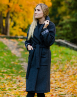 DARK GREY ETHNIC COAT