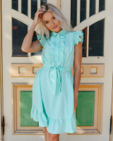 FRILL MINT DRESS