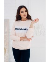 MISS IGANES PEACH OVERSIZE SWEATER