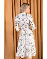 WHITE POLKA DOT ELEGANT DRESS