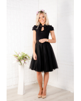 BLACK DOLLABLE TOP + SKIRT