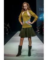 MUSTARD TRIANGLE CIRCLE DRESS