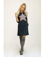 PASTEL STAR DARK GREY POCKET DRESS