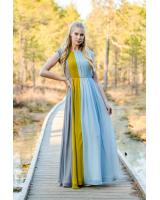 EARTHY FLOWY MAXI CHIFFON DRESS