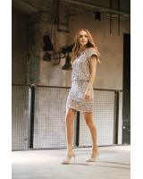 SEQUIN STRETCHY MIDI DRESS