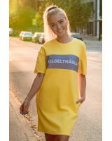 HELGELTNÄGIJA YELLOW OVERSIZED DRESS