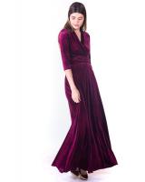 PURPLE ELEGANT VELVET MAXI DRESS