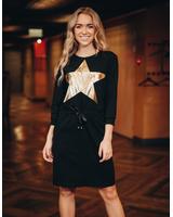 Black Golden Star Jumper dress