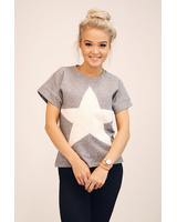 CREAM STAR FREE SLEEVE TOP
