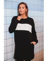 CUSTOM BLACK OVERSIZED DRESS