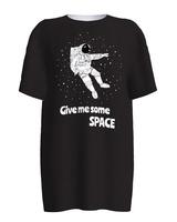 SPACE COSMONAUT BLACK PRINT T-SHIRT