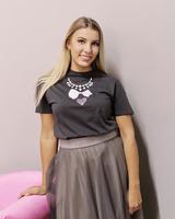 Glam t-shirt dark grey