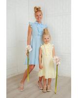 YELLOW KIDS FRILL DRESS