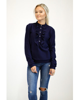 BLUE FRILL SWEATER