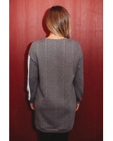 CUSTOM SIDE GREY KNIT DRESS