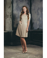BEIGE GALLERY ARTS DRESS