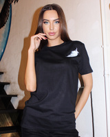 ANGEL UNISEX BLACK PRINT T-SHIRT