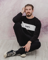 BLACK COPY SWEATER FOR MEN