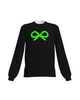 BLACK GREEN NEON BOW SWEATER