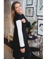 CUSTOM SIDE BLACK DRESS