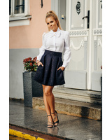 NAVY SPARKLE PETUNIA MINI SKIRT