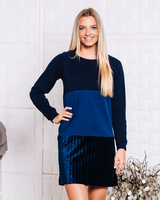 DARK BLUE TRIO SWEATER DRESS