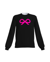BLACK PINK NEON BOW SWEATER
