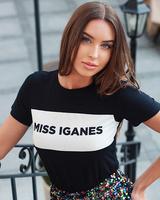 MISS IGANES DARK BLUE SHIRT