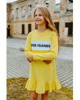 MISS IGANES - YELLOW KIDS DRESS