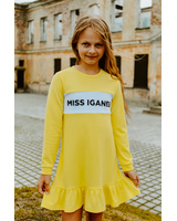 MISS IGANES KIDS FRILL DRESS YELLOW