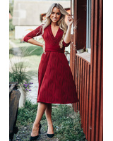 BORDEAUX WAVE ELEGANT DRESS