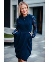 TULIP POCKET DRESS & LACE SHIRT
