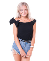 OFF THE SHOULDER BOW TOP