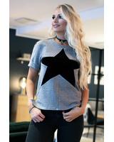 T-shirt Star Grey