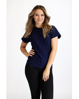 PEARL BLOUSE DARK BLUE