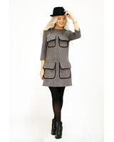 GREY KNIT 4-POCKET DRESS