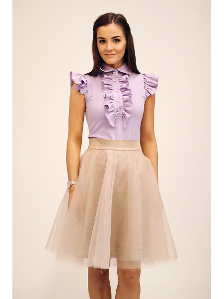 LILAC FRILL TOP
