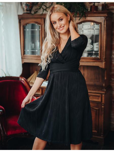 BLACK WAVE ELEGANT DRESS