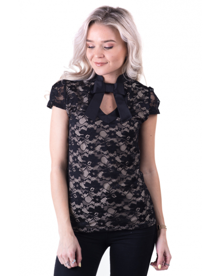 BLACK LACE DOLLABLE TOP