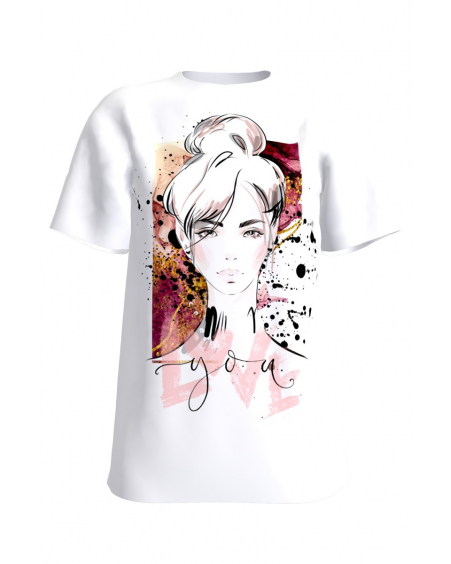LOVE YOU white womens t-shirt