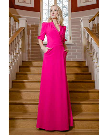 FUCHSIA MOON MAXI DRESS